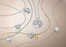 swarovski crystal chain necklace images Rhodium and crystal circle pendant necklace jpg