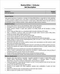 Medical Biller Job Description Resume by Medical Biller Job Description Resume