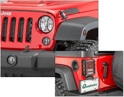 2017 jeep wrangler rugged exterior rugged ridge 10 piece euro guard light kit for 07 18 jeep