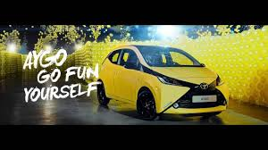 yellow toyota toyota aygo the colour maze youtube