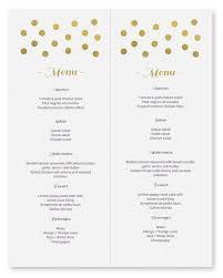 100 free printable menu templates for wedding wedding menu