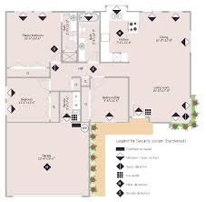 Floor Plan Electrical Symbols Security System Floor Plan How To Use House Electrical Plan