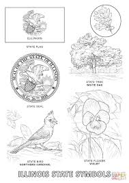 illinois state symbols coloring page free printable coloring pages