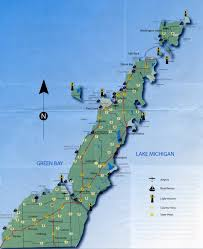 Lake Michigan Shipwrecks Map by Door County Kayaking