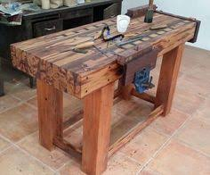 Easy Wood Workbench Plans by Building A Real Woodworker U0027s Workbench Tables Woodworking And Craft
