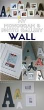 how to make a monogram photo gallery wall the crafty blog stalker