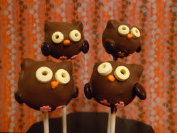 cake pop halloween chocolate owl cake pops