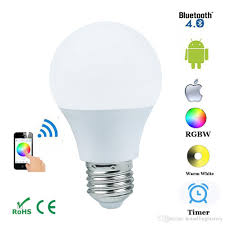light bulbs controlled by iphone e27 4 5w bluetooth 4 0 smart ios android app control l wireless