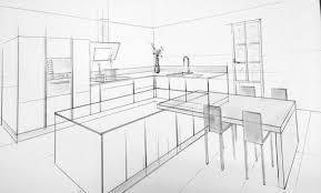dessiner en perspective une cuisine beautiful chambre en perspective frontale photos design trends