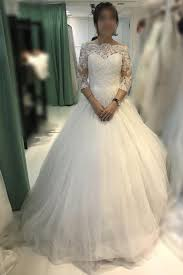 ball gown ivory off the shoulder tulle bridal dress lace wedding