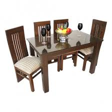 Even Vera Wooden Teak Wood Dining Set Woodys Furniture - Teak dining table and chairs india