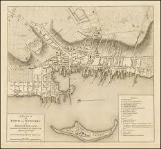 Boston Map 1776 by Blaskowitz U0027 Newport Rhode Island One Of The Great Town Plans Of