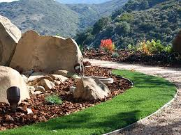 California Landscaping Ideas Synthetic Lawn Granite Hills California Landscape Photos