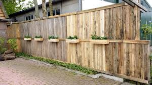 wood pallet fence planter boxes reused wooden pallets for nice
