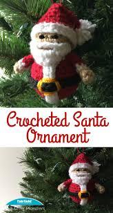 5 little monsters crocheted santa ornament