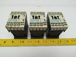 siemens 3rh1140 2bb40 contactor relay 4no 24vdc size s00 lot of 3