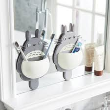 Bathroom Suction Shelves Wall Mount Sucker Animal Toothbrush Holder Bathroom Accessories
