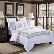 gray and white comforter set comforters decoration