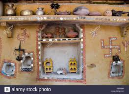 traditional village home wall decoration jodhpur rajasthan