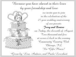 25th wedding anniversary invitations 25th wedding anniversary invitations christmanista