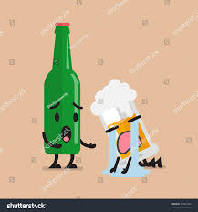 clinking glasses emoji beer bottle soothes sad glass beer stock vector 585067342
