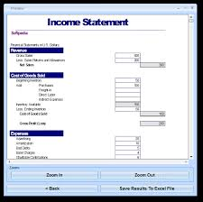 Profit And Loss Excel Template Free Simple Income Statement Template