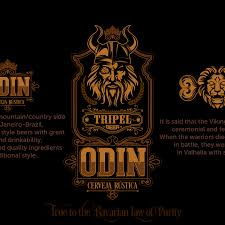 odin design a creative logo for the rustic brewery of the god odin logo