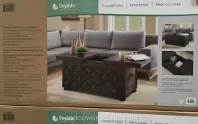 bayside furnishings storage cocktail table costco weekender