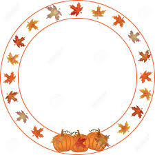 autumn and pumpkin border for thanksgiving fall and