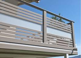 balkon alu balkongeländer glas geländer mit glasfüllung und alu handlauf