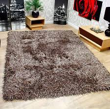 extra thick 9cm soft touch silver grey shaggy rug 160 x 220 cm