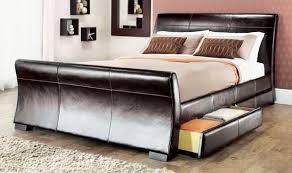 King Size Sleigh Bed Luxury Sleigh Beds With Modern Sleigh Bed In Black King Size