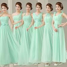 green bridesmaid dresses pastel mint green bridesmaid dress chiffon real photos light blue