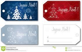 french christmas gift tag set vector stock vector image 62169170