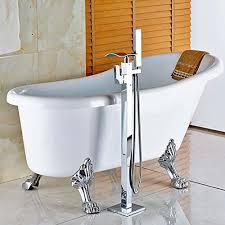 free standing bathtub faucet votamuta floor mounted waterfall spout tub shower faucet free