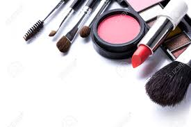 makeup artist supplies decorative cosmetics isolated white background make up