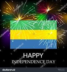 Color For Happy Vector Illustration Gabon Flag Color Gabon Stock Vector 305206847