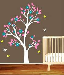 Decals For Walls Nursery Baby Tree Wall Decals White Tree Wall Decal Nursery Tree