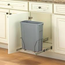 kitchen trash can cabinet pull out kitchen trash can with lid sliding trash can rack out