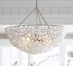 capiz flush mount light marina round pendant pottery barn