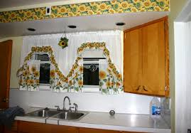 kitchen theme decor ideas sunflower kitchen decor with wall sticker borders and curtain