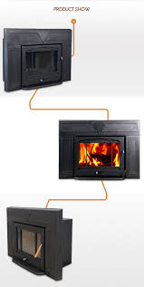 hiflame over 20kw large fireplace frame steel body cast iron