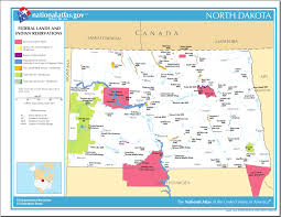 Indian Tribes North America Map by Map Of North Dakota Map Federal Lands And Indian Reservations