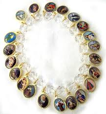 crystal bracelet charms images Crystal and saint charms rosary bracelet with free lumimous rosary gif