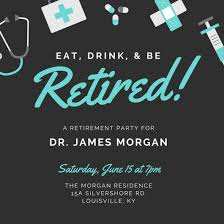 doctor retirement party invitation templates by canva