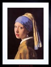 vermeer girl with pearl earring painting painting vermeer girl pearl earring master framed picture