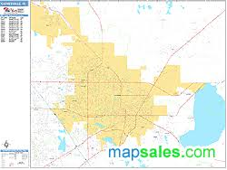 gainesville map gainesville florida zip code wall map basic style by marketmaps