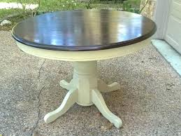 stained table top painted legs painted pedestal dining table round painted double pedestal dining