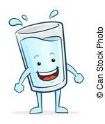 happy glass boy water vector illustration of a boy a