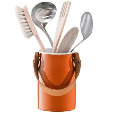 lsa utility utensil pot and leather handle from black by design